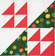 FREE video: Make 8 half-square triangle units at a time! Sew speedy...