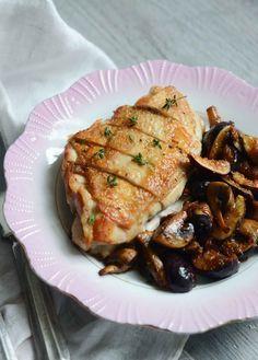 Pan-Roasted Chicken with Figs & Mushrooms | Fresh Tart (Paleo, AIP)
