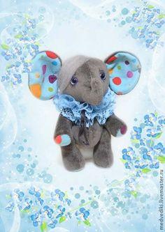 Слоник Яша - серый,слоник,слоник тедди,слоняшка,тедди,друзья тедди,подарок