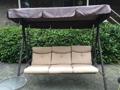 Beautiful Our Canopy And Cushion Replacements Are Custom Made To Fit Your Patio Swing.  Contact Swing Cushion Covers And More To Order Or Learn More.