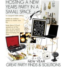 NEW YEARS PARTY, created by cutandpaste on Polyvore