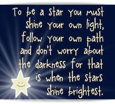 To be a star...