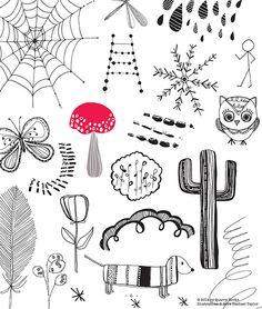 Doodles! Copyright © Rachael Taylor #20waysdoodle http://www.rachaeltaylordesigns.co.uk/shop/paper/books/20-ways-to-draw-a-doodle-book#.U7Zxkv15mao