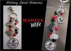 MARINE WIFE CHARM PURSE from Military Sweet Memories