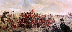 The 28th Regiment at Quatre Bras - (at approximately 17:00) - Elizabeth Thompson - (1875)