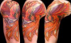 Half Sleeve Phoenix Tattoo Design Picture