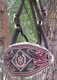The most beautifully tooled Bronc Halter I've ever seen.
