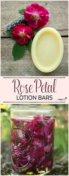 These rose lotion bars are simple to whip together and are fantastic at healing damaged skin. To use, rub a lotion bar over your skin wherever it feels dry. They're especially helpful for spot treating rough feet, knees and elbows.