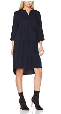 Vestido camisero midi negro