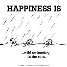 Mental, wild, crazy swimming in the rain!