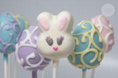 Easter Cakepops [bunny and swirl eggs]