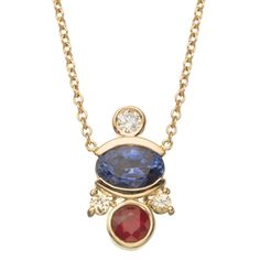 Perseid Cluster Necklace from Unexpected Unions collection. Bezel set, oval cut blue sapphire ranges in weight from 0.66ct - 1.08ct. Bezel set, Aquamarine weighs approximately 0.20ct. Bezel set, white diamond weighs approximately 0.05 ct. 2 prong set round cut Yellow Sapphires weigh approximately 0.08ct in total. Measures 18 in long. Barrel clap closure and set in 14k Yellow Gold. If you're interested visit the store, email mociun@mociun.com or call 7183873731 #mociun #mociunjewelry