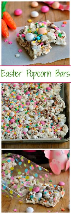 Light, airy and full of color, these Easter Popcorn bars are perfect for spring! These quick snacks make the perfect addition to any Easter basket or care package!