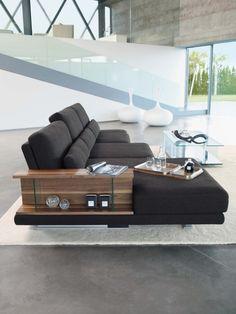 VERO sofa design rolf benz beistelltisch regal holz glas