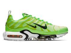 hot sale online 7f08d f9bce Nike Air Max Plus Tn LOGO Chaussures de sport Pas Cher Pour Homme Vert  blanc 815994