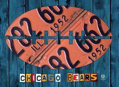 Chicago Bears Stadium License Plate