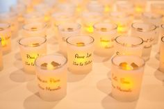 candles used as escort cards
