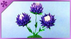 DIY Kanzashi flowers in flowerpot (ENG Subtitles) - Speed up #304