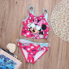 Meninas do bebê Set Roupas 2016 Crianças Minnes Rato Swimwear Banho Maiô Tankinis Biquíni Conjunto em Conjuntos de roupas de Mãe & Kids no AliExpress.com | Alibaba Group