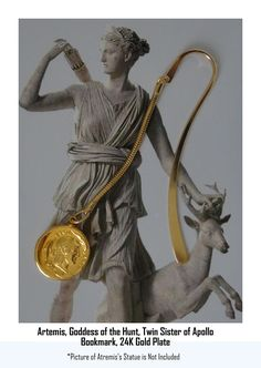 Artemis, Goddess of the Hunt, Twin Sister of Apollo, Bookmark, Greek God and Goddesses Coin collection, (#8B-G) -- Awesome products selected by Anna Churchill