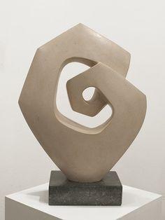 Junction Art Gallery - Interlock, Portland limestone £1,450.00  http://www.junctionartgallery.co.uk/artists/sculpture/robert-fogell/interlock