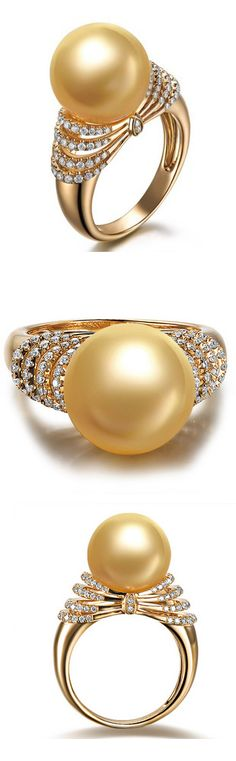 Golden South Sea Pearl Ring, If you like this item, Please Click www.shopprice.co.nz