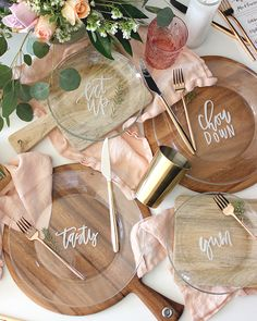 DIY Lettered Dinner Plates (paint on underside)