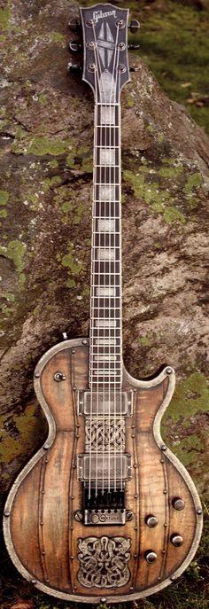 Steampunk Gibson --- https://www.pinterest.com/lardyfatboy/