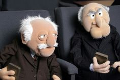 """Your toughest critics can be your biggest fans. unless they're Statler and Waldorf. Jim Henson, The Muppet Show Characters, Statler And Waldorf, 70s Tv Shows, Fraggle Rock, Grumpy Old Men, Rainbow Connection, Recorder Music, Kermit"