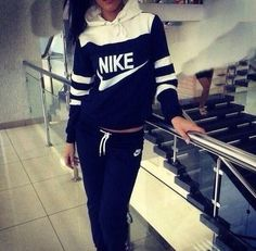 Nike tracksuit still look cute even when your not playing. Soccer inspired:)
