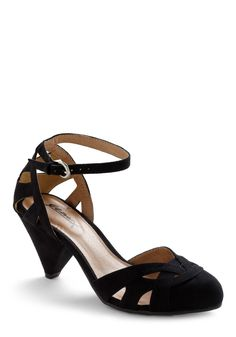 black low heel