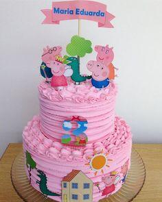 Peppa Pig Decoration Ideas Unique Peppa Pig Dehoje Chantininho Bolopersonalizado Toss a wedding that is Tortas Peppa Pig, Bolo Da Peppa Pig, Peppa Pig Birthday Cake, Baby Girl Birthday, Peppa Pig Cakes, 3rd Birthday, Special Birthday, Bolo George Pig, Girl Cakes