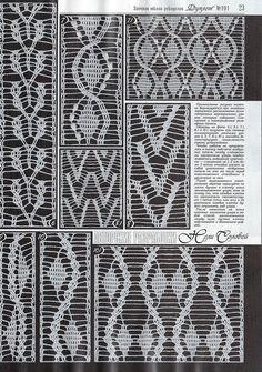 "Photo from album ""Дуплет on Yandex. Crochet Borders, Crochet Stitches Patterns, Crochet Chart, Crochet Motif, Knitting Stitches, Stitch Patterns, Crochet Ideas, Cable Chart, Russian Crochet"