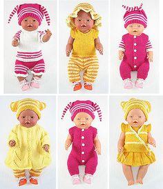 Kostenlose Schnittmuster für Babypuppen bis zur Größe von 48 cm