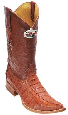 d5945fc9b6 caiman ~ World Best Alligator ~ Gator Skin Tail Cognac Vintage Los Altos  Men s Cowboy Boots Western Riding
