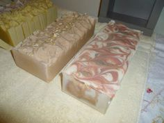 Suds 'n Things - Oatmeal & Honey Soap and my October feather challenge soap