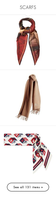 """""""SCARFS"""" by imrinad ❤ liked on Polyvore featuring accessories, scarves, lenços, nude, oversized scarves, silk shawl, red silk scarves, velvet scarves, red scarves and burberry"""