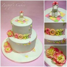 Unicorn Christening Cake - Cake by Zoepop