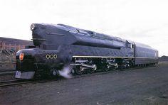 Dieselpunk: Pennsylvania Railroad Baldwin built T-1 4-4-4-4 by Raymond Loewy