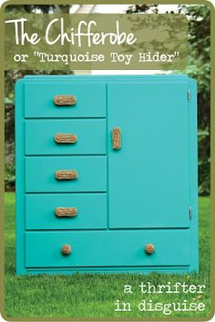 A Thrifter in Disguise: Vintage Chifferobe for Toy Storage