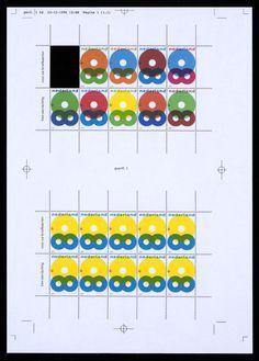 Karel Martens, Ontwerp voor postzegels Nederland 1997 Wenspostzegel
