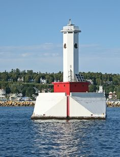 Round Island Passage Lighthouse. Active.