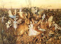 John Anster Fitzgerald ~ Rabbit Between Fairies