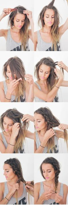 Hairstyles For Long Hair : Hair Tutorial Thick Summer Braid Pretty Hairstyles, Easy Hairstyles, Wedding Hairstyles, College Hairstyles, Hairstyles 2018, Beach Hairstyles Medium, Lazy Girl Hairstyles, Nurse Hairstyles, Travel Hairstyles