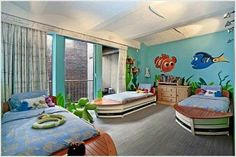 Finding Nemo inspired bedroom #nemo #disney #dory