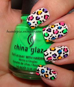The latest tips and news on nail-art are on Beautopia Nails. On Beautopia Nails you will find everything you need on nail-art. Leopard Nail Designs, Leopard Nail Art, Leopard Print Nails, Leopard Spots, Leopard Cake, White Leopard, Love Nails, How To Do Nails, Fun Nails