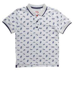 Boys Grey Print Transport Polo Shirt - View All Boys - Kids - BHS