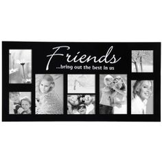 adeco 8 openings friends bring out the best in us picture collage frame holds two two two and two
