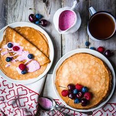 Zdrave palacinky How Sweet Eats, Hummus, Pancakes, Food And Drink, Low Carb, Pudding, Snacks, Cooking, Breakfast