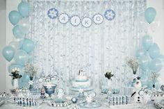 Mesa de anivesário tema Frozen